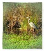 Pond Wildlife Fleece Blanket