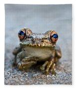Pondering Frog Fleece Blanket