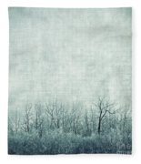 Pondering Silence Fleece Blanket