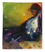 Pondering The Cosmos Fleece Blanket