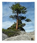 Ponderosa Pine And Granite Boulders Fleece Blanket