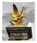 Pont Alexander IIi Fragment In Paris Fleece Blanket