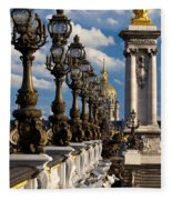 Pont Alexandre IIi Fleece Blanket