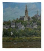 Pont Croix, Brittany, 2007 Oil On Canvas Fleece Blanket