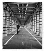 Pont De Bercy Fleece Blanket
