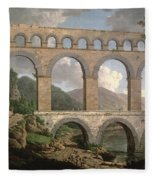 Pont Du Gard, Nimes Fleece Blanket