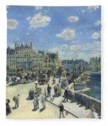 Pont Neuf Paris Fleece Blanket