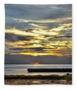 Pontchartrain Sunset Fleece Blanket