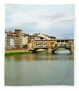 Ponte Vecchio 1 Fleece Blanket