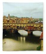 Ponte Vecchio 2 Fleece Blanket