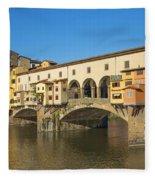 Ponte Vecchio Bridge In Florence Fleece Blanket