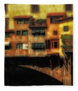 Ponte Vecchio Firenze Fleece Blanket