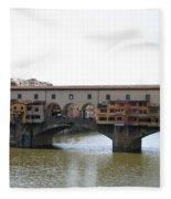 Ponte Vecchio I Fleece Blanket