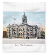 Pontiac Michigan - Ponitiac Court House - 1910 Fleece Blanket