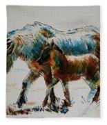 Pony And Foal Fleece Blanket