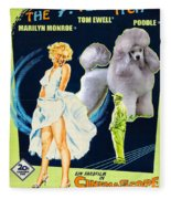 Poodle Art - The Seven Year Itch Movie Poster Fleece Blanket