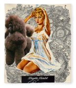 Poodle Art - Una Parisienne Movie Poster Fleece Blanket