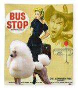 Poodle Standard Art - Bus Stop Movie Poster Fleece Blanket