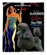 Poodle Standard Art - Gilda Movie Poster Fleece Blanket