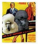 Poodle Standard Art - Love Is My Profession Movie Poster Fleece Blanket
