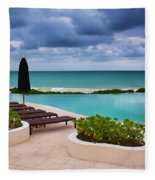 Pool At Rosewood Mayakoba Fleece Blanket