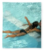 Pool Couple 9717b Fleece Blanket