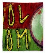 Pool Room Sign Abstract Fleece Blanket