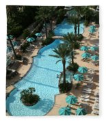 Pool1112b Fleece Blanket