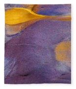 Pools Of Gold Fleece Blanket
