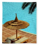 Poolside Relaxation Fleece Blanket