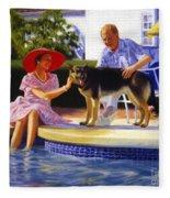 Poolside Thistle Down Fleece Blanket