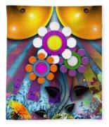 Pop Art Flower Fleece Blanket