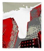 Pop Art Nyc 4 Fleece Blanket