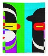 Pop Art People 4 Row Fleece Blanket