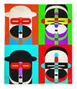 Pop Art People Quattro Fleece Blanket