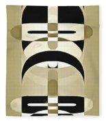 Pop Art People Totem 3 Fleece Blanket