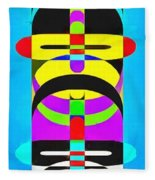 Pop Art People Totem 7 Fleece Blanket