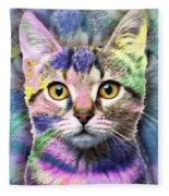 Pop Cat Fleece Blanket
