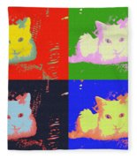 Pop Kitty Fleece Blanket