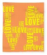 Pop Love 3 Fleece Blanket
