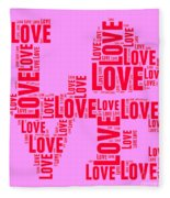 Pop Love 4 Fleece Blanket
