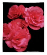 Pop Of Pink Fleece Blanket