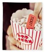 Popcorn Box Office Fleece Blanket
