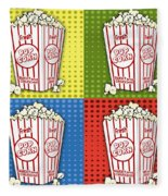 Popcorn Pop Art-jp2375 Fleece Blanket