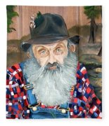 Popcorn Sutton - Moonshine Legend - Landscape View Fleece Blanket