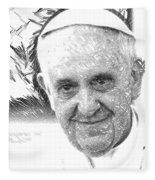 Pope Francis - Jorge Mario Bergoglio Fleece Blanket