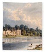Popes Villa At Twickenham, 1828 Fleece Blanket