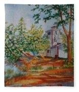 Poplar Point Lighthouse Fleece Blanket
