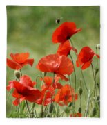 Poppies 1 Fleece Blanket