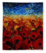 Poppies 2 Fleece Blanket
